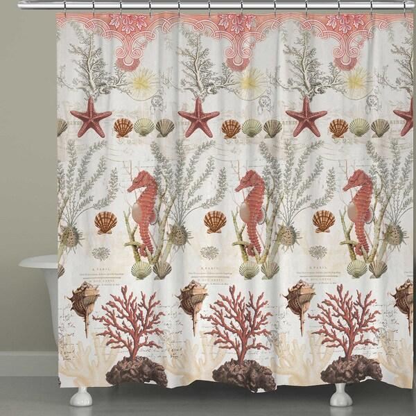 Ornate Ocean Life Shower Curtain 17229358