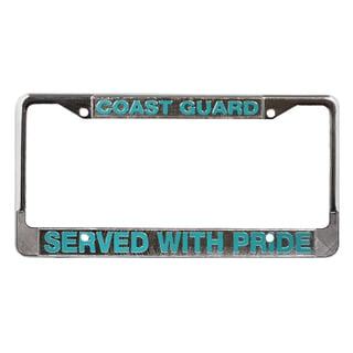 US Coast Guard Veteran License Plate Frame