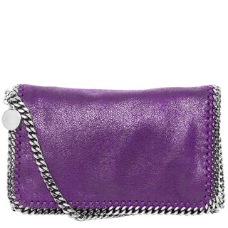 Stella McCartney Falabella Purple Shaggy Deer Crossbody Handbag