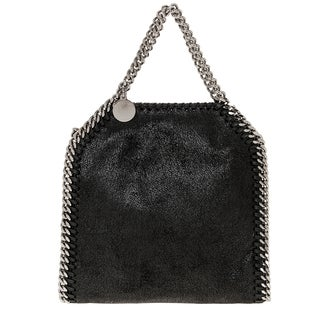 Stella McCartney Tiny Falabella Metallic Faux Suede Tote