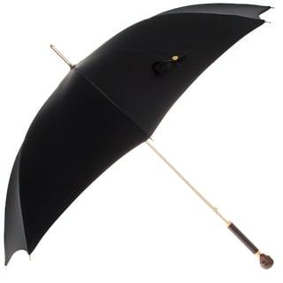 Alexander McQueen Leather Skull Handle Umbrella