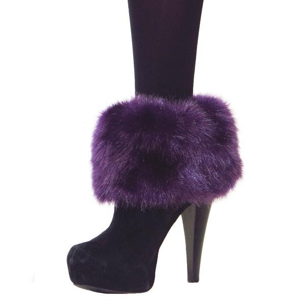 Memoi Women's Fur Sensation Short Fur Boot Topper