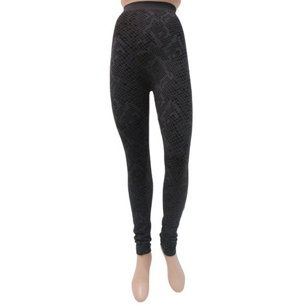 Memoi Women's Snake Print Leggings