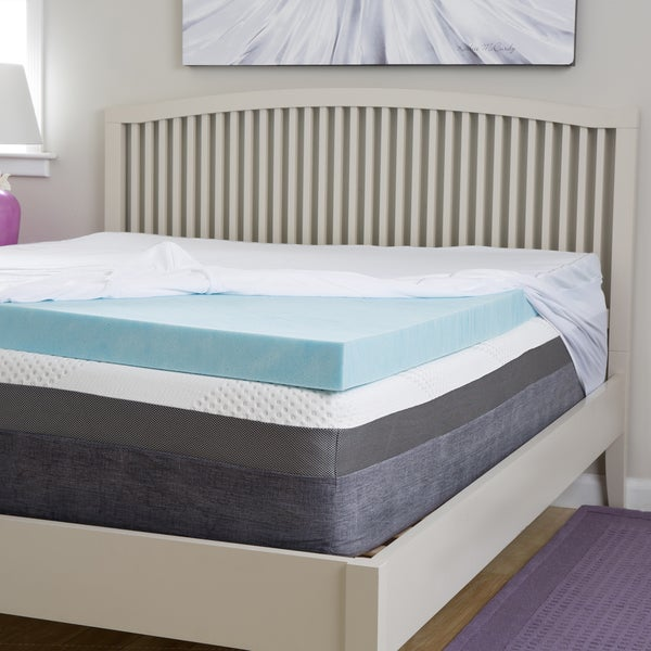 Slumber Perfect 4-inch Gel Memory Foam Topper with Egyptian Cotton Cover Twin Size (As Is Item)