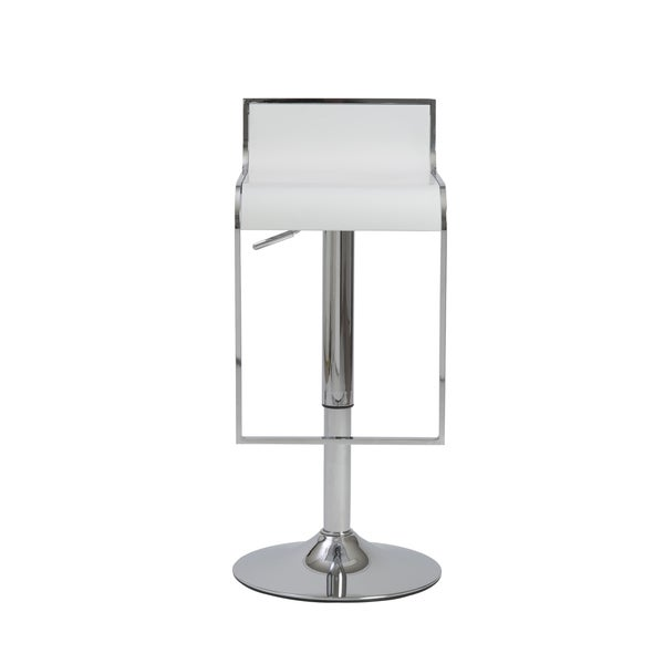 Fortuna White/ Chrome Bar/ Counter Stool