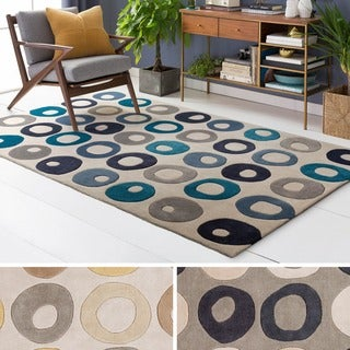 Hand Tufted Greene Polyester Rug (9' x 13')