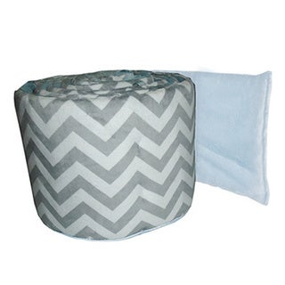 Mini Crib Minky Chevron Bumper