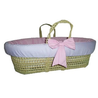 Two Tone Solid Color Moses Basket