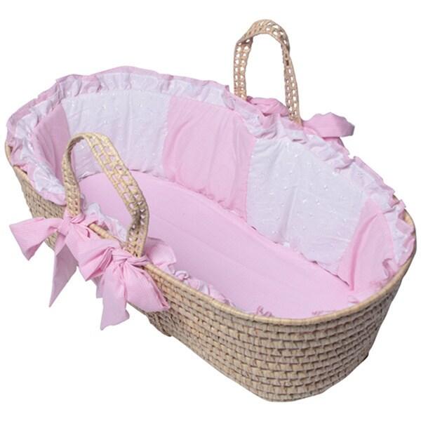 Gingham Eyelet Moses Basket