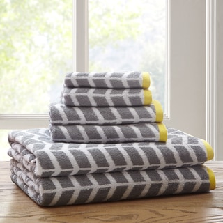 Intelligent Design Laila Cotton 6-Piece Jacquard Towel Set