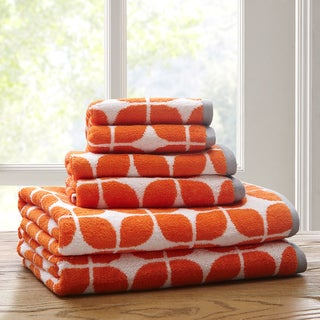Intelligent Design Elena Cotton 6-Piece Jacquard Towel Set