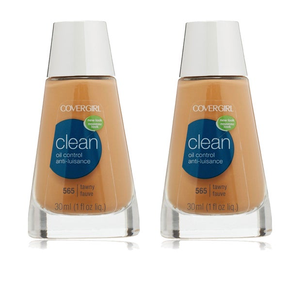 CoverGirl Clean Oil Control Liquid Makeup Tawny 565 (Pack of 2)