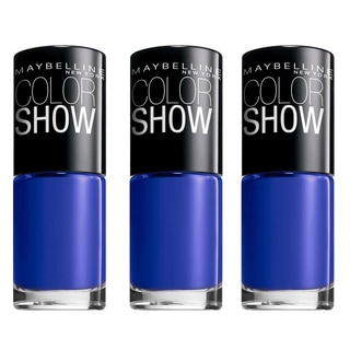 Maybelline New York Color Show Nail Lacquer Sapphire Siren (Pack of 3)