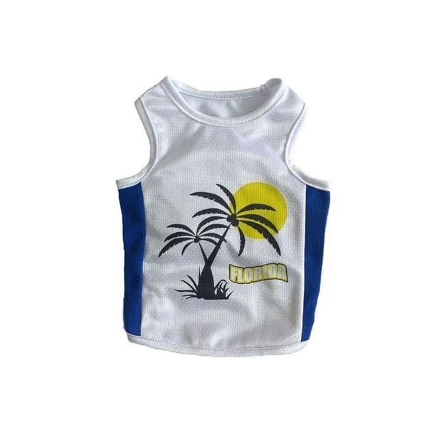 Insten Sporty Pink and White Florida Pet Tank Top