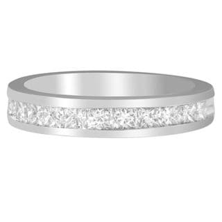 18k White Gold 1ct TDW Diamond Channel Band (G-H, SI1-SI2)