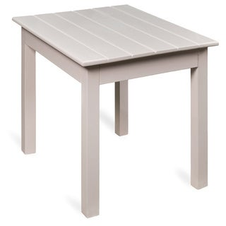 Traditional Wood Side Table - White