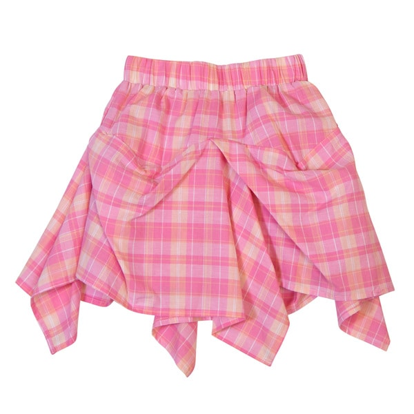 DownEast Basics Girls' Elastic Waistband Ruffle Skirt