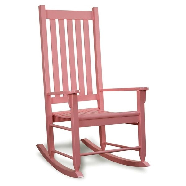 Pink Traditional Wooden Rocking Chair