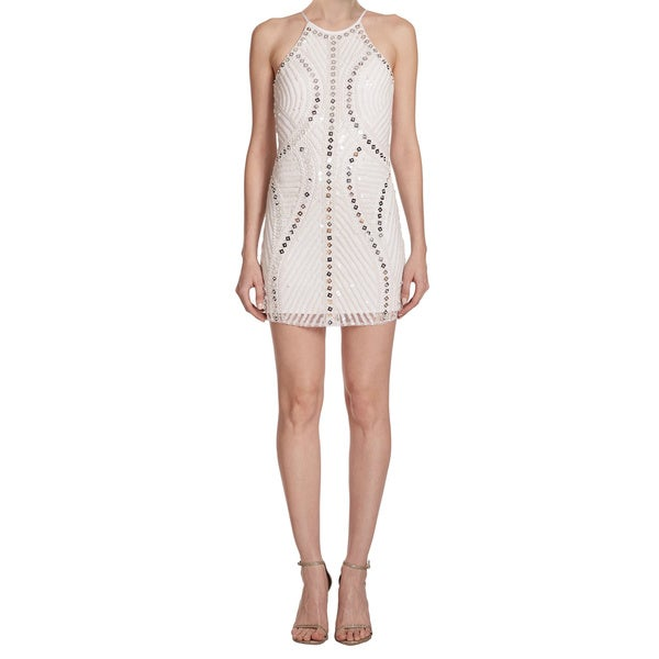 Parker Iridescent Sequin Jaden Embellished Party Dress