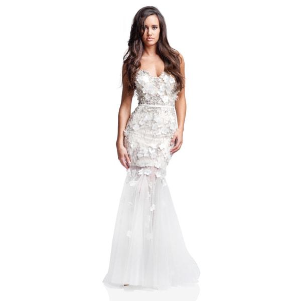 Terani Couture Strapless Trumpet Wedding Dress