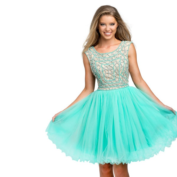 Terani Couture Embellished Bodice Short Prom Gown