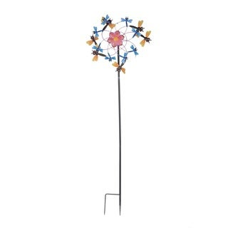 Sunjoy Dragonfly Kinetic Wind Catcher Garden Stake