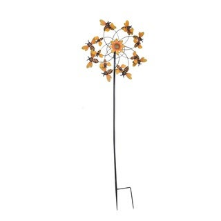 Sunjoy Bumblebee Kinetic Wind Catcher Garden Stake