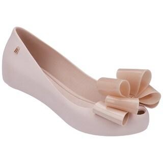 Melissa Women's Ultragirl Sweet IX Pink Bow Jelly Ballet Flats