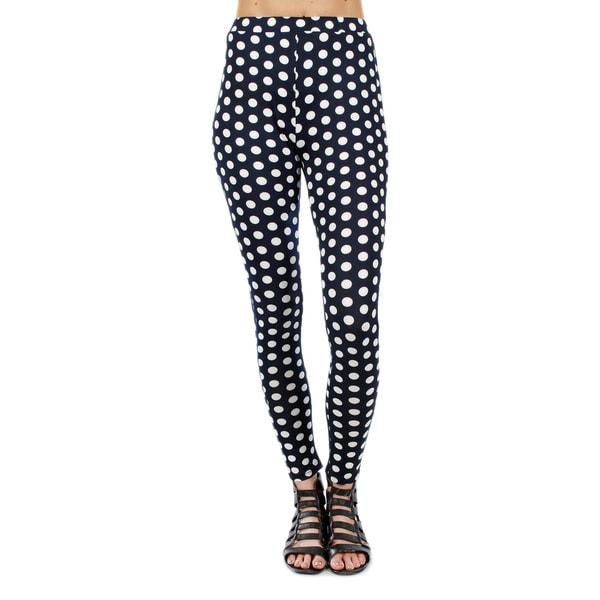 Firmiana Women's Long Casual Polka-Dot Pants