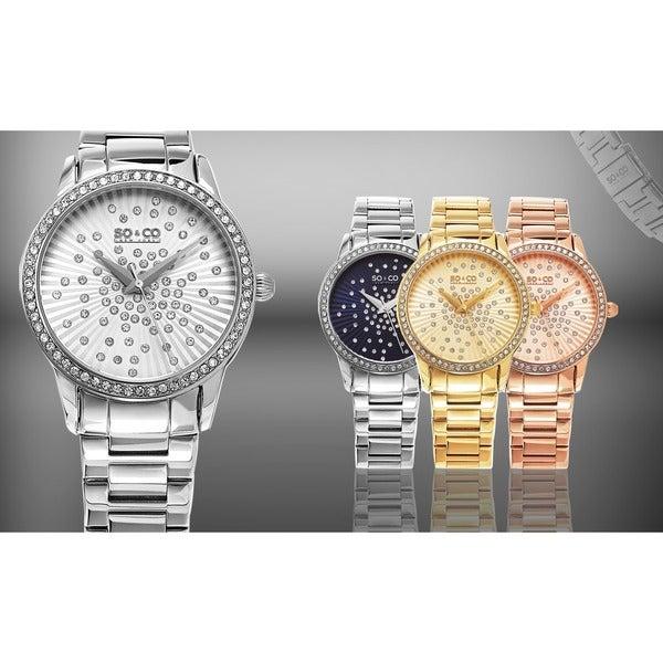SO&CO New York Women's Lenox Quartz Stainless Steel Bracelet Crystal Watch 17234341