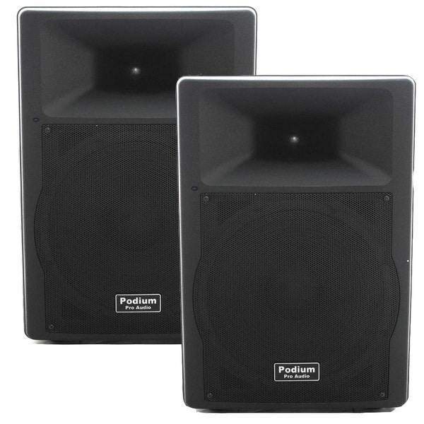 Podium Pro PP1507A PA DJ Bluetooth 15-inch Active 1800W Speaker Pair MP3 PP1507A-PR