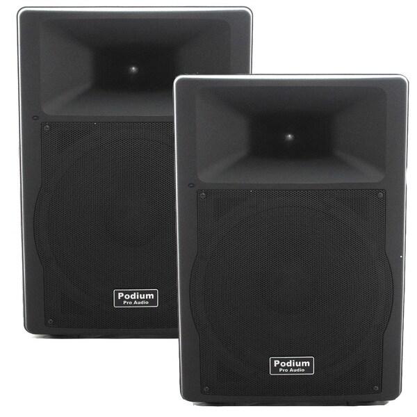 Podium Pro PP1507A PA DJ Bluetooth 15-inch Active 1800W Speaker Pair MP3 PP1507A-PR