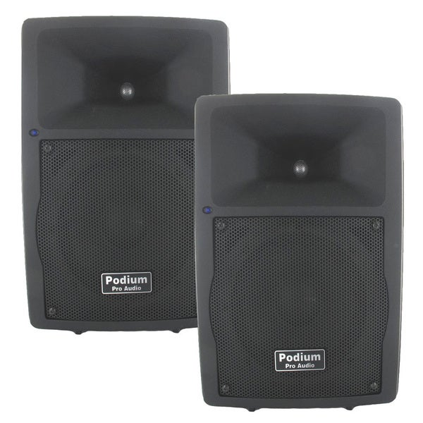 Podium Pro PP807A Bluetooth 8-inch Active Speaker Pair MP3 800W PA DJ Karaoke PP807A-PR