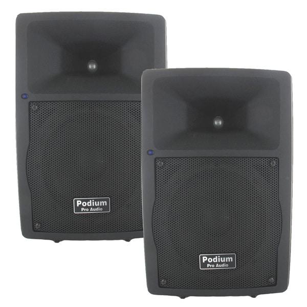 Podium Pro PP807A Bluetooth 8-inch Active Speaker Pair MP3 800W PA DJ Karaoke PP807A-PR