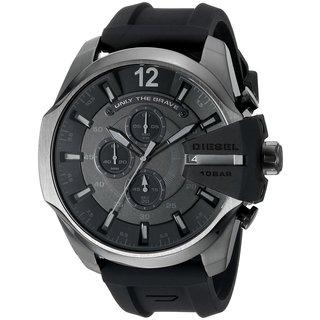Diesel Men's DZ4378 Chief Chronograph Black Dial Black Silicone Watch