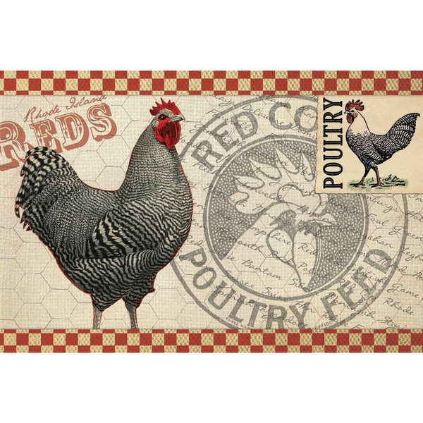 Marmont Hill - 'Poultry Feed' Painting Print on Canvas