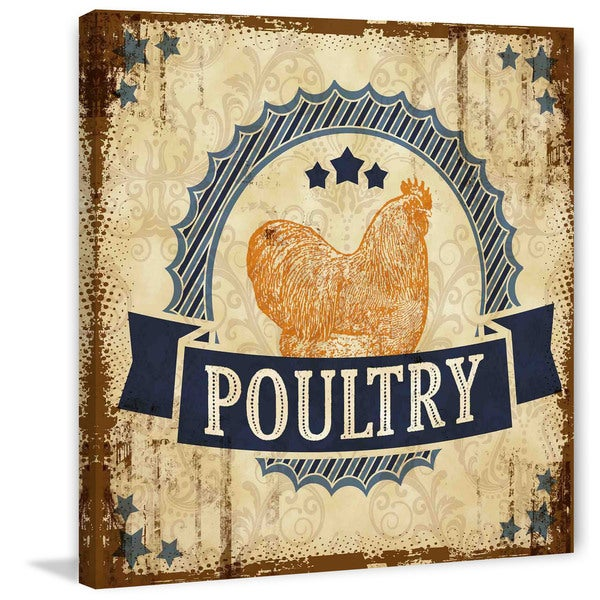 Marmont Hill - 'Poultry 2' Painting Print on Canvas