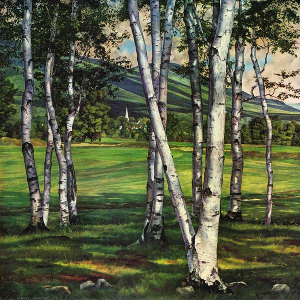Marmont Hill - 'Green Grass' Painting Print on Canvas