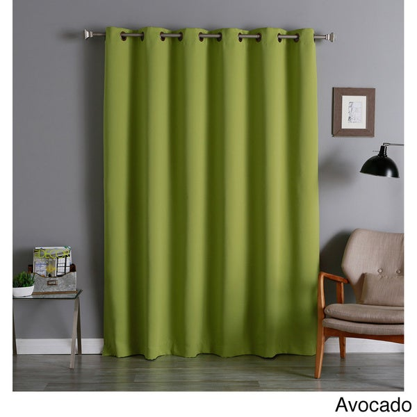 Aurora Home Extra Wide Thermal 96-inch Blackout Curtain Panel in Dark Grey (As Is Item)