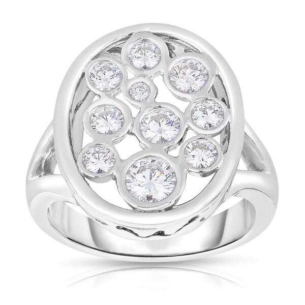 Eloquence Platinum 9/10ct TDW Diamond Composite Ring (H-I, I1-I2)