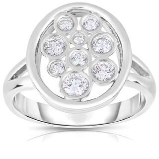 Eloquence Platinum 1/2ct TDW Diamond Composite Ring (H-I, SI1-SI2)