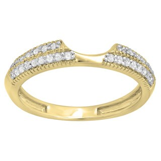 14k White Gold 1/4ct TDW Diamond Anniversary Wedding Band Enhancer Guard Ring (H-I, I1-I2)