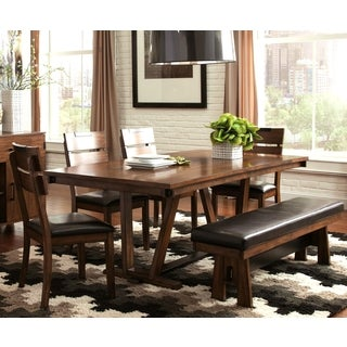 Sangarie Architectural Hand-crafted Two-tone Detailed Dining Set