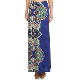 Moa Collection Women's Royal Paisley Maxi Skirt