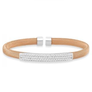 14k Gold 1.00ct Diamond Cable Cuff Bangle Bracelet (G-H, SI1-SI2)