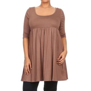 Women's Plus Size Empire Waist Solid Top
