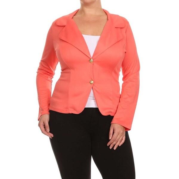 Plus Size Women's Blazer Style Jacket