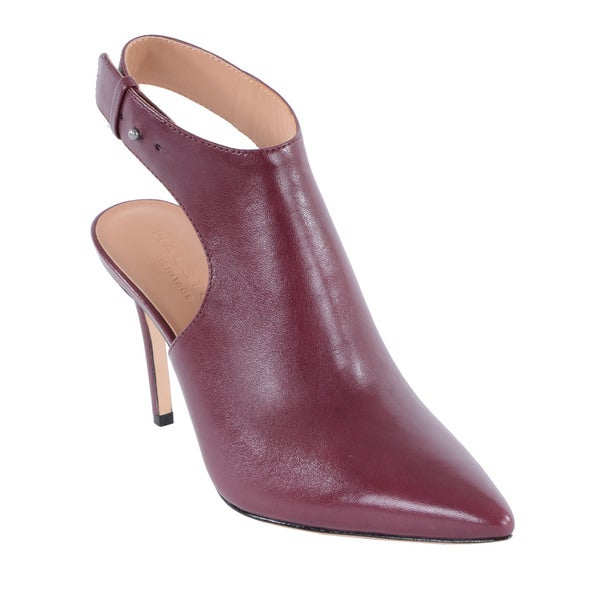 Halston Heritage Betty Brown Ankle Strap Bootie