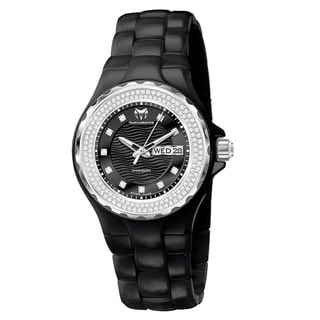 TechnoMarine Ladies Black Ceramic Dial Cruise Watch