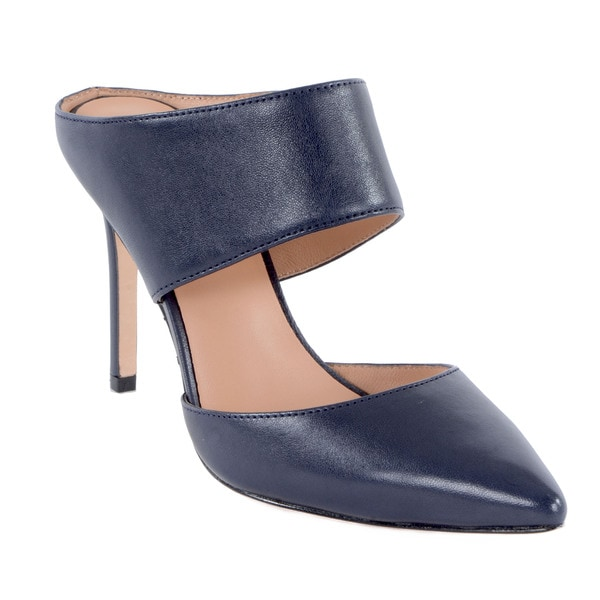 Halston Heritage Isabella Leather Pointed-Toe Mule